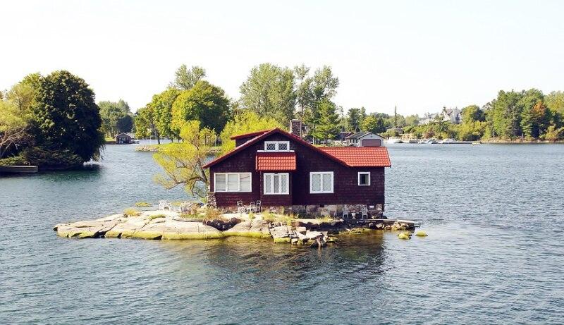 dům na ostrově